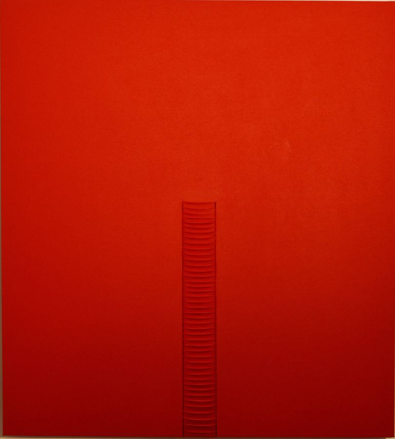 PLEATING ROSSO