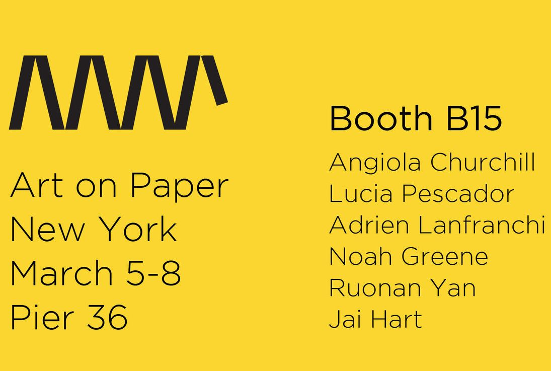ART ON PAPER NEW YORK - 5/8 MARZO , 2020 - STAND B15 - PADIGLIONE 36