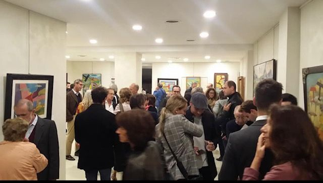Large turnout at the inauguration of the exhibition on futurism